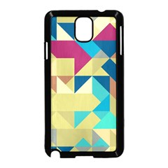 Scattered pieces in retro colors Samsung Galaxy Note 3 Neo Hardshell Case