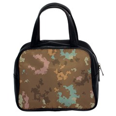 Paint Strokes In Retro Colors Classic Handbag (two Sides)