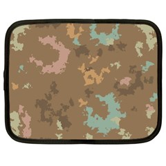 Paint Strokes In Retro Colors Netbook Case (xl)