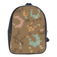 Paint Strokes In Retro Colors School Bag (large)