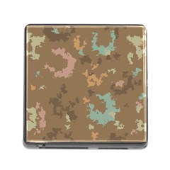 Paint Strokes In Retro Colors Memory Card Reader (square)