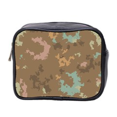 Paint Strokes In Retro Colors Mini Toiletries Bag (two Sides)
