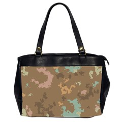 Paint Strokes In Retro Colors Oversize Office Handbag (2 Sides)