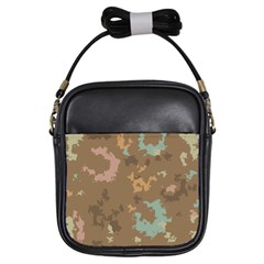 Paint Strokes In Retro Colors Girls Sling Bag