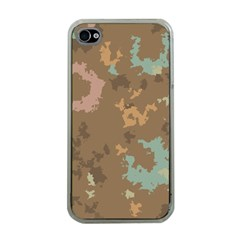 Paint Strokes In Retro Colors Apple Iphone 4 Case (clear)