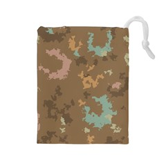 Paint strokes in retro colors Drawstring Pouch