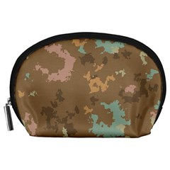 Paint Strokes In Retro Colors Accessory Pouch