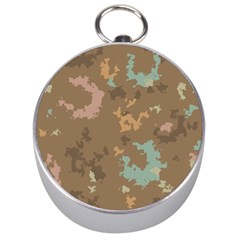 Paint strokes in retro colors Silver Compass