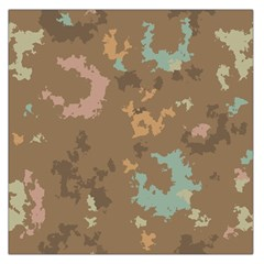 Paint strokes in retro colors Satin Scarf
