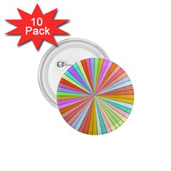 Colorful Beams 1 75  Button (10 Pack)