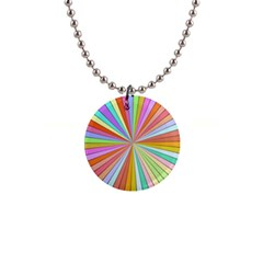 Colorful beams 1  Button Necklace