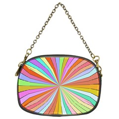 Colorful Beams Chain Purse (two Sides)