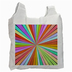 Colorful Beams Recycle Bag (one Side)