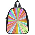 Colorful beams School Bag (Small) Front