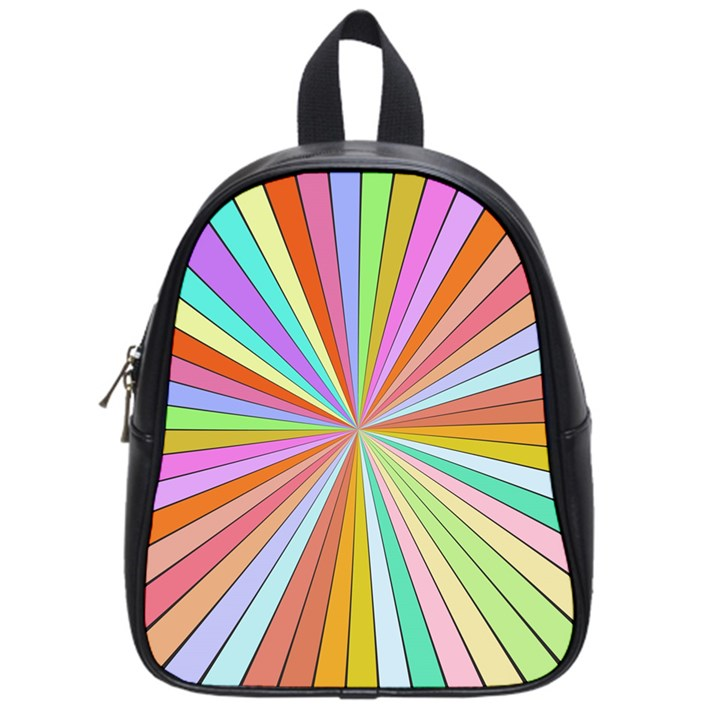 Colorful beams School Bag (Small)
