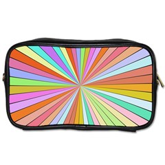Colorful Beams Toiletries Bag (one Side)