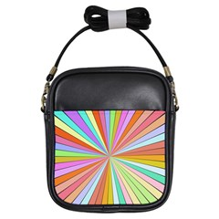 Colorful Beams Girls Sling Bag