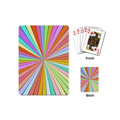Colorful Beams Playing Cards (mini)
