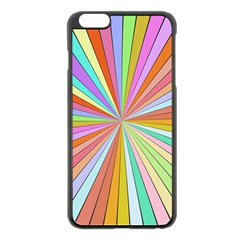 Colorful beams Apple iPhone 6 Plus Black Enamel Case