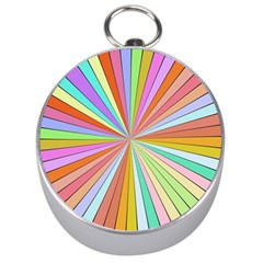 Colorful Beams Silver Compass