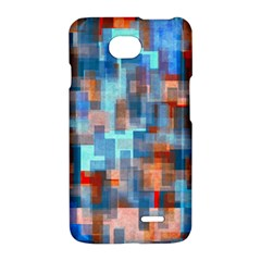 Blue orange watercolors	LG Optimus L70 Hardshell Case