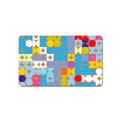 Circles And Rhombus Pattern Magnet (name Card)