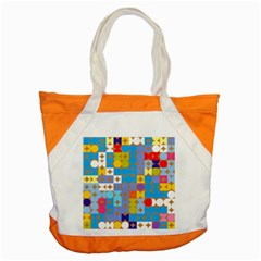 Circles And Rhombus Pattern Accent Tote Bag