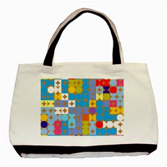 Circles And Rhombus Pattern Basic Tote Bag (two Sides)
