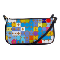 Circles And Rhombus Pattern Shoulder Clutch Bag