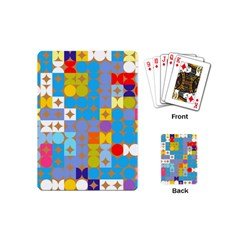 Circles And Rhombus Pattern Playing Cards (mini)