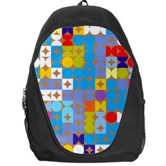 Circles And Rhombus Pattern Backpack Bag