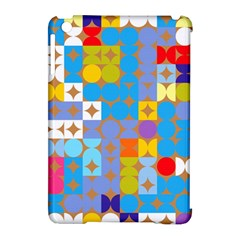 Circles And Rhombus Pattern Apple Ipad Mini Hardshell Case (compatible With Smart Cover)