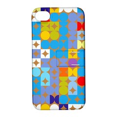 Circles And Rhombus Pattern Apple Iphone 4/4s Hardshell Case With Stand