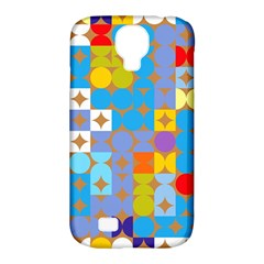 Circles And Rhombus Pattern Samsung Galaxy S4 Classic Hardshell Case (pc+silicone)