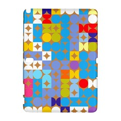 Circles And Rhombus Pattern Samsung Galaxy Note 10 1 (p600) Hardshell Case