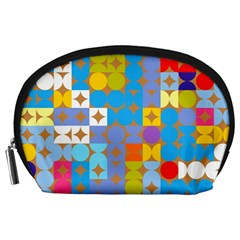 Circles and rhombus pattern Accessory Pouch