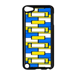 Yellow Blue White Shapes Pattern Apple Ipod Touch 5 Case (black)