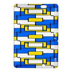 Yellow Blue White Shapes Pattern Kindle Fire Hdx 8 9  Hardshell Case