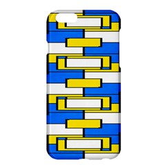 Yellow blue white shapes pattern	Apple iPhone 6 Plus Hardshell Case