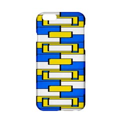 Yellow blue white shapes pattern Apple iPhone 6 Hardshell Case