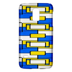 Yellow blue white shapes patternSamsung Galaxy S5 Mini Hardshell Case