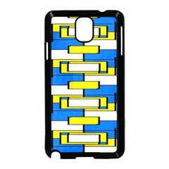 Yellow blue white shapes pattern Samsung Galaxy Note 3 Neo Hardshell Case