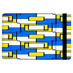 Yellow blue white shapes pattern	Apple iPad Air Flip Case
