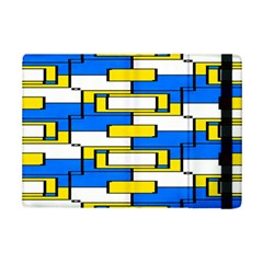 Yellow blue white shapes pattern	Apple iPad Mini 2 Flip Case