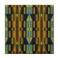 Triangles And Other Shapes Pattern Tile Coaster