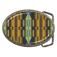 Triangles And Other Shapes Pattern Belt Buckle