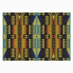 Triangles And Other Shapes Pattern Large Glasses Cloth (2 Sides)