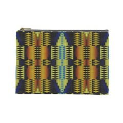 Triangles And Other Shapes Pattern Cosmetic Bag (large)