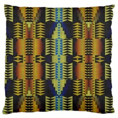 Triangles And Other Shapes Pattern Large Cushion Case (two Sides)