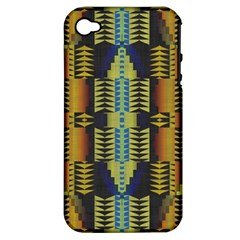 Triangles And Other Shapes Pattern Apple Iphone 4/4s Hardshell Case (pc+silicone)